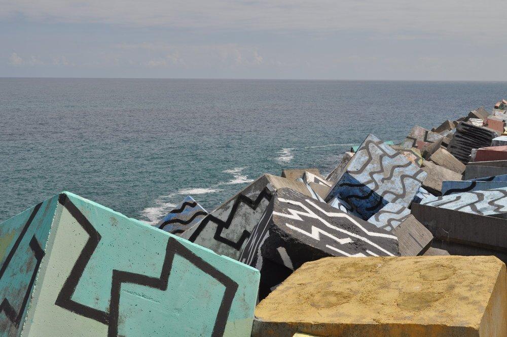 Cubos de la memoria, obra de Agustín Ibarrola. Foto: Pamy Rojas