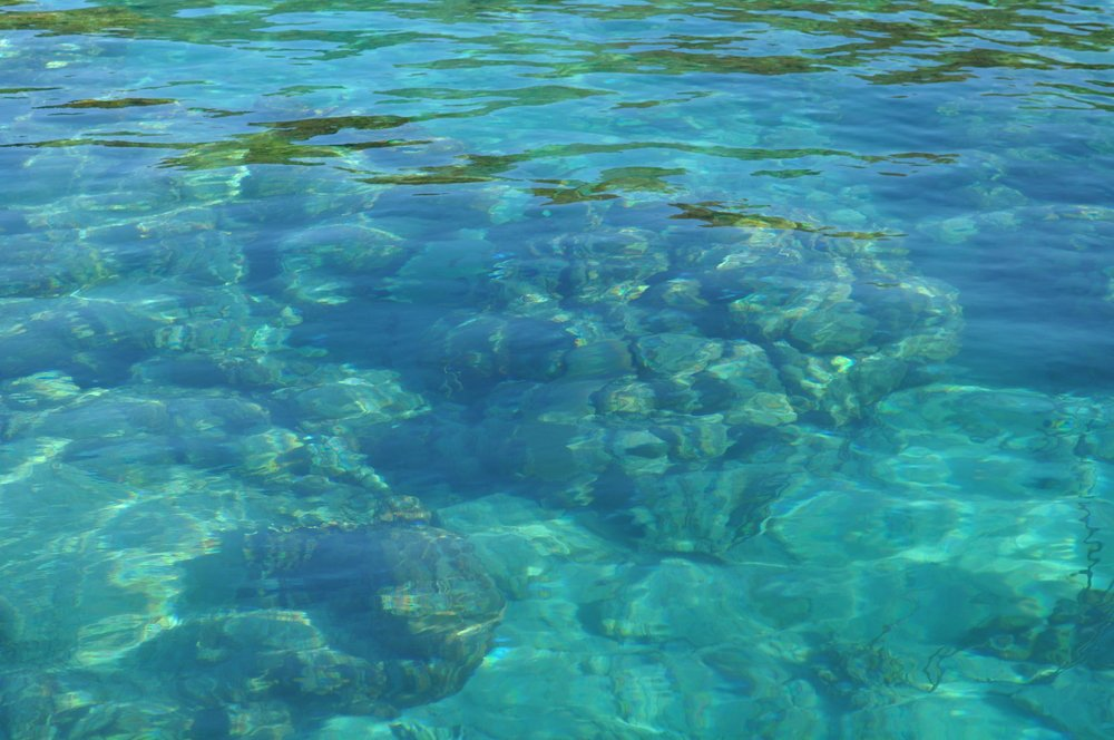 El fondo cristalino del cayo Luis Peña; este lugar es una reserva natural. Foto: Pamy Rojas