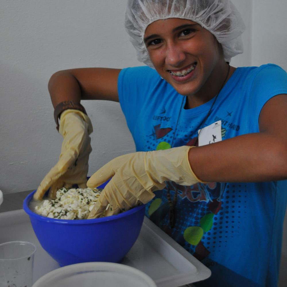 Hicieron su propio queso con las especias que ellas mismas escogieron. Foto: Pamy Rojas