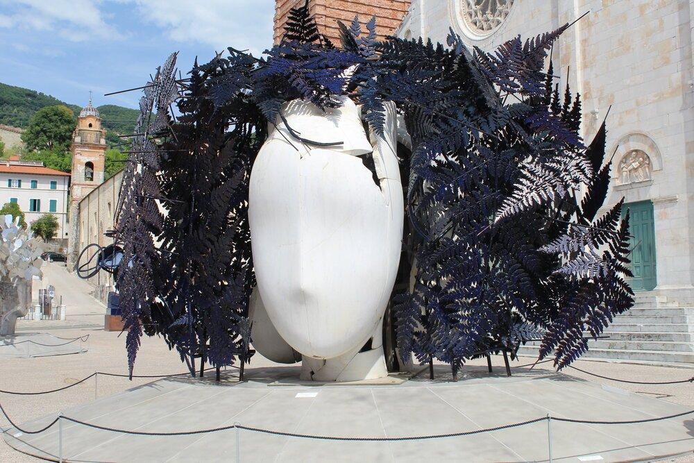 Las esculturas en la plaza de Pietrasanta. FOTO: Pamy Rojas